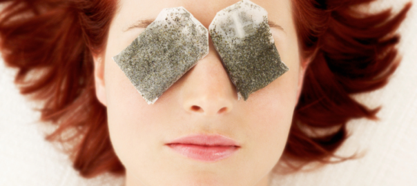 reuse tea bags eye mask