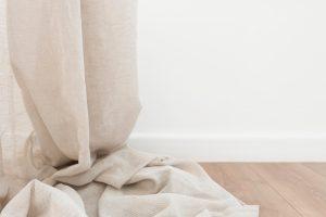 linen fabric drapes